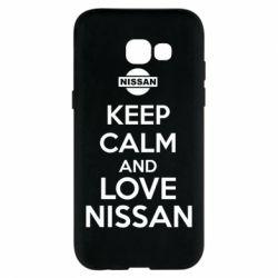 Чехол для Samsung A5 2017 Keep calm and love Nissan - FatLine