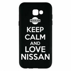 Чехол для Samsung A7 2017 Keep calm and love Nissan - FatLine