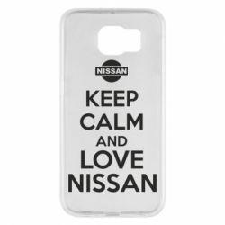 Чехол для Samsung S6 Keep calm and love Nissan - FatLine