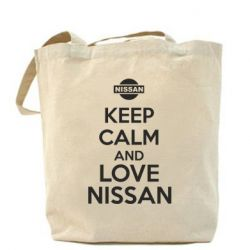 Сумка Keep calm and love Nissan