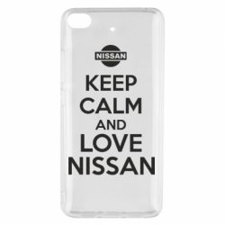 Чехол для Xiaomi Mi 5s Keep calm and love Nissan - FatLine