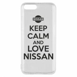 Чехол для Xiaomi Mi6 Keep calm and love Nissan - FatLine