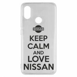 Чехол для Xiaomi Mi8 Keep calm and love Nissan - FatLine