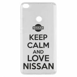Чехол для Xiaomi Mi Max 2 Keep calm and love Nissan - FatLine