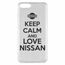 Чехол для Xiaomi Mi Note 3 Keep calm and love Nissan - FatLine