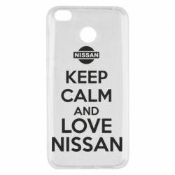 Чехол для Xiaomi Redmi 4x Keep calm and love Nissan - FatLine