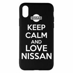 Чехол для iPhone X Keep calm and love Nissan - FatLine