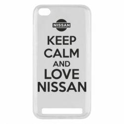 Чехол для Xiaomi Redmi 5a Keep calm and love Nissan - FatLine