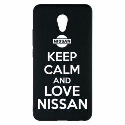 Чехол для Meizu M5 Note Keep calm and love Nissan - FatLine
