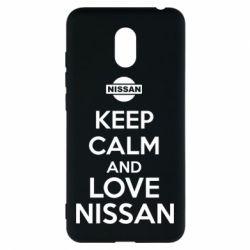 Чехол для Meizu M6 Keep calm and love Nissan - FatLine