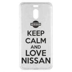 Чехол для Meizu M6 Note Keep calm and love Nissan - FatLine
