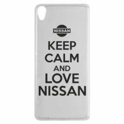 Чехол для Sony Xperia XA Keep calm and love Nissan - FatLine
