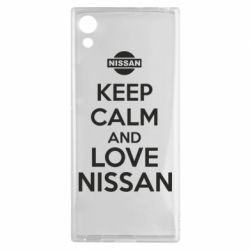 Чехол для Sony Xperia XA1 Keep calm and love Nissan - FatLine