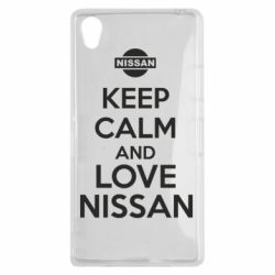 Чехол для Sony Xperia Z1 Keep calm and love Nissan - FatLine