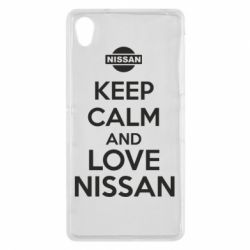 Чехол для Sony Xperia Z2 Keep calm and love Nissan - FatLine