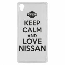 Чехол для Sony Xperia Z3 Keep calm and love Nissan - FatLine