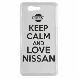 Чехол для Sony Xperia Z3 mini Keep calm and love Nissan - FatLine