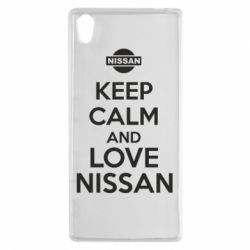Чехол для Sony Xperia Z5 Keep calm and love Nissan - FatLine