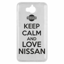 Чехол для Huawei Y5 2017 Keep calm and love Nissan - FatLine