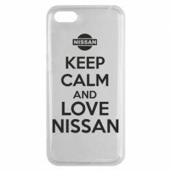 Чехол для Huawei Y5 2018 Keep calm and love Nissan - FatLine