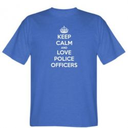 Мужская футболка Keep Calm and Love police officers - FatLine