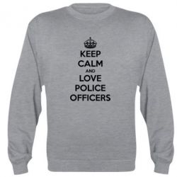 Реглан (свитшот) Keep Calm and Love police officers