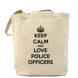 Сумка Keep Calm and Love police officers