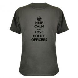 Камуфляжная футболка Keep Calm and Love police officers - FatLine