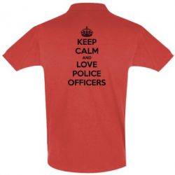 Футболка Поло Keep Calm and Love police officers