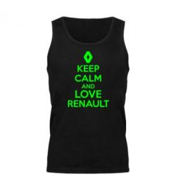 Мужская майка KEEP CALM AND LOVE RENAULT - FatLine