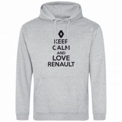 Толстовка KEEP CALM AND LOVE RENAULT - FatLine