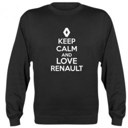 Реглан (свитшот) KEEP CALM AND LOVE RENAULT - FatLine