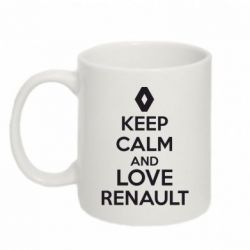 Кружка 320ml KEEP CALM AND LOVE RENAULT - FatLine
