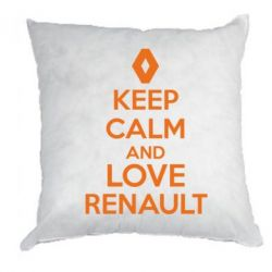 Подушка KEEP CALM AND LOVE RENAULT - FatLine