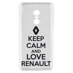 Чехол для Xiaomi Redmi Note 4 KEEP CALM AND LOVE RENAULT