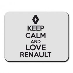 Коврик для мыши KEEP CALM AND LOVE RENAULT - FatLine