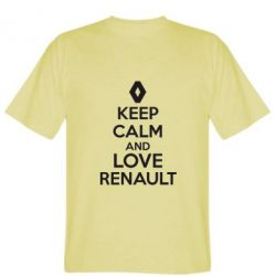 Мужская футболка KEEP CALM AND LOVE RENAULT - FatLine