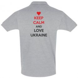 Футболка Поло KEEP CALM and LOVE UKRAINE