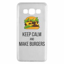 Чехол для Samsung A3 2015 Keep calm and make burger