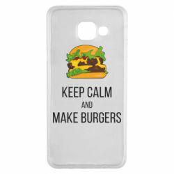 Чехол для Samsung A3 2016 Keep calm and make burger