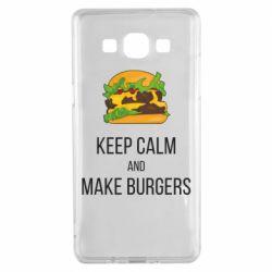 Чехол для Samsung A5 2015 Keep calm and make burger