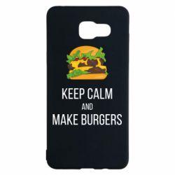 Чехол для Samsung A5 2016 Keep calm and make burger