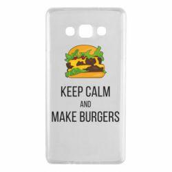 Чехол для Samsung A7 2015 Keep calm and make burger