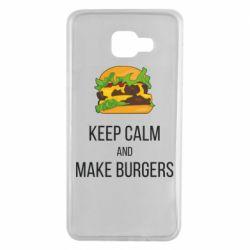 Чехол для Samsung A7 2016 Keep calm and make burger