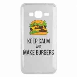 Чехол для Samsung J3 2016 Keep calm and make burger