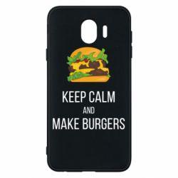 Чехол для Samsung J4 Keep calm and make burger
