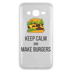 Чехол для Samsung J5 2015 Keep calm and make burger
