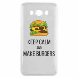 Чехол для Samsung J7 2016 Keep calm and make burger
