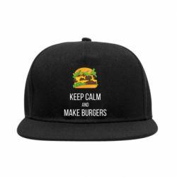 Снепбек Keep calm and make burger