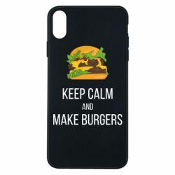 Чехол для iPhone Xs Max Keep calm and make burger